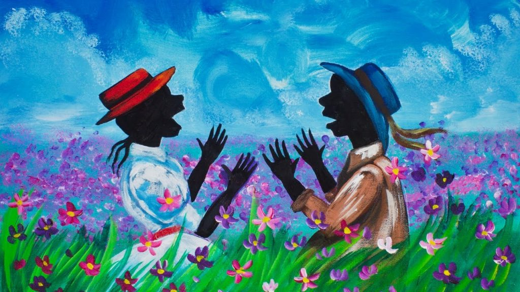 The Color Purple Canvas Painting