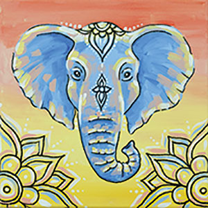 The Colorful Elephant Canvas Family Painting Mix It Up